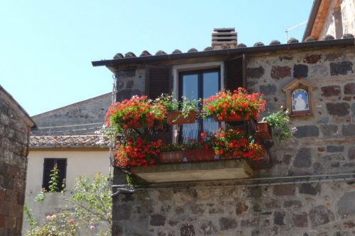 Balcony in Val d'Orcia